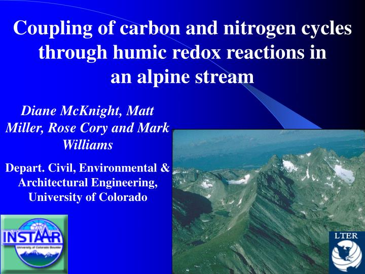 PPT - Coupling of carbon and nitrogen cycles through humic redox