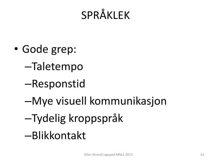 SPRÅKLEK
