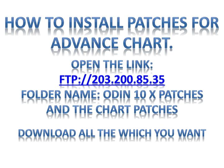 How to Install Patches For