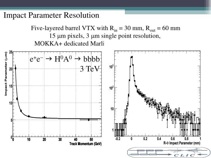 Impact Parameter Resolution