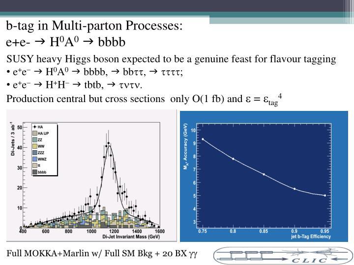 b-tag in Multi-parton Processes: