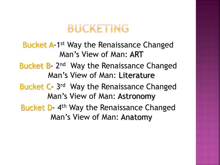 how did the renaissance change man's During the renaissance man's view on man changed this view changed from a more religious view, where as the renaissance's view on man was more focused on the man himself it showed the potential and accomplishments of what man had done this was shown through art, man's inner nature, man's place in the universe and.