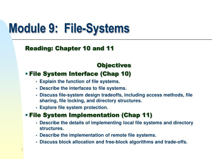 module 9 file systems n.