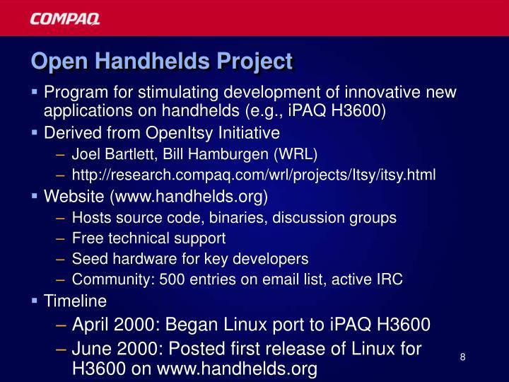 Open Handhelds Project