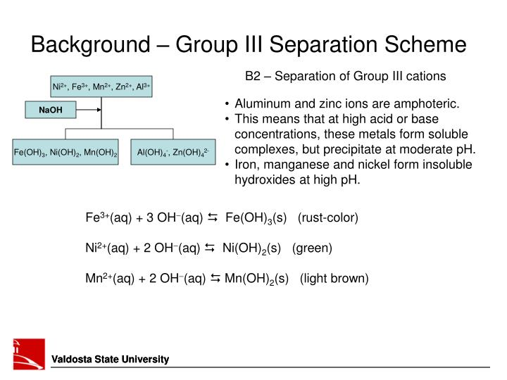 Ppt Experiment 10 Group Iii Cation Analysis Part Ii Powerpoint