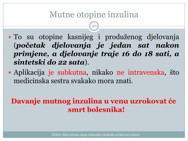 Mutne otopine inzulina