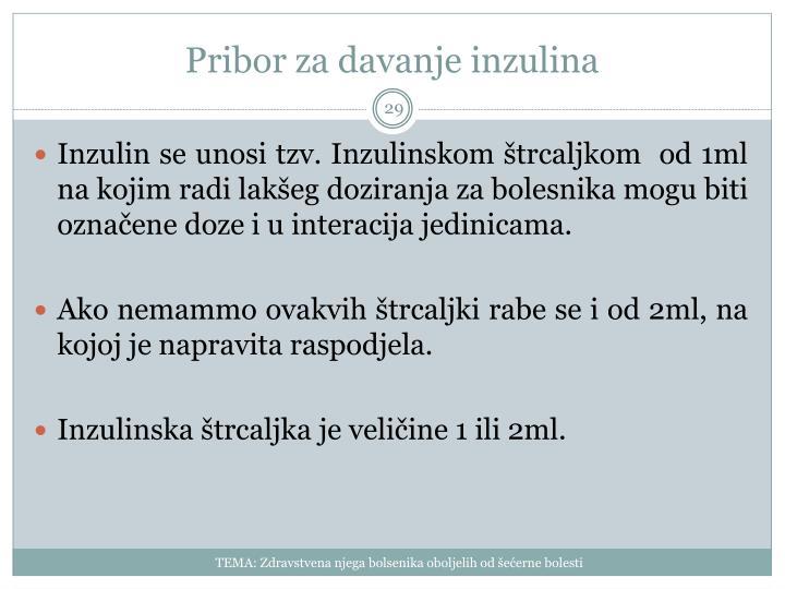 Pribor za davanje inzulina