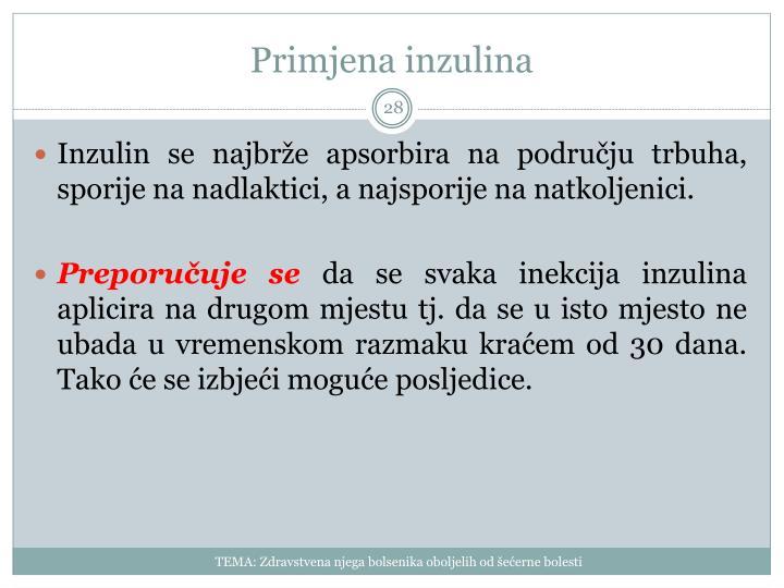Primjena inzulina