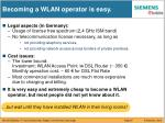 becoming a wlan operator is easy