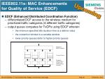ieee802 11e mac enhancements for quality of service edcf