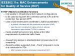 ieee802 11e mac enhancements for quality of service hcf