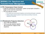 ieee802 11h spectrum and transmit power management