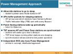power management approach