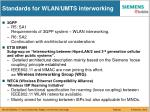 standards for wlan umts interworking