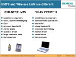umts and wireless lan are different