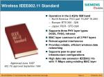 wireless ieee802 11 standard