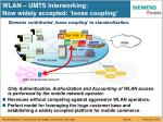 wlan umts interworking now widely accepted loose coupling