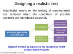 designing a realistic test