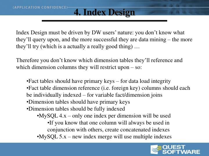 4. Index Design