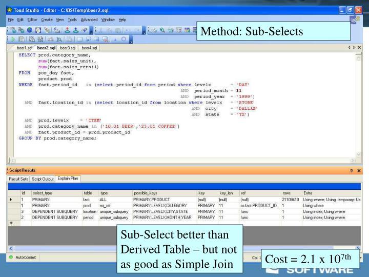 Method: Sub-Selects