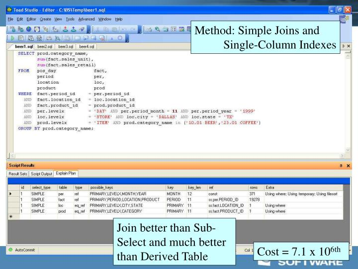 Method: Simple Joins and
