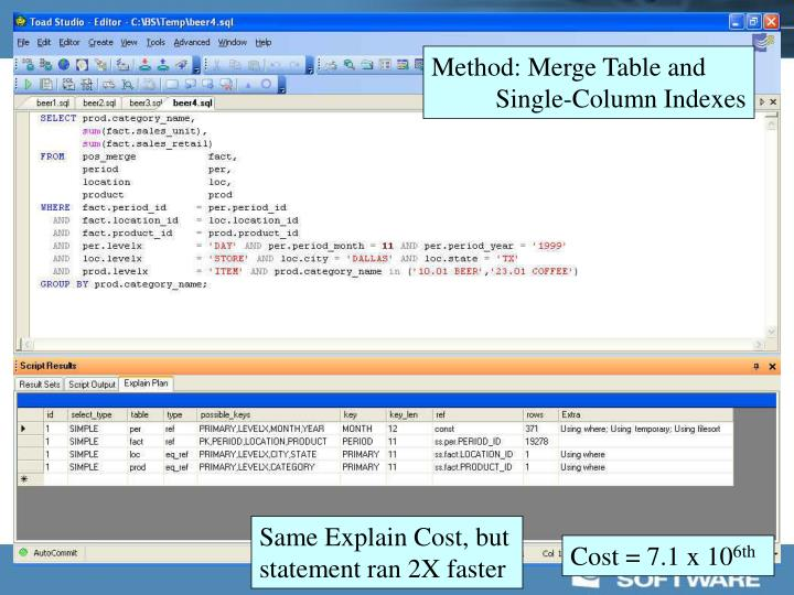 Method: Merge Table and