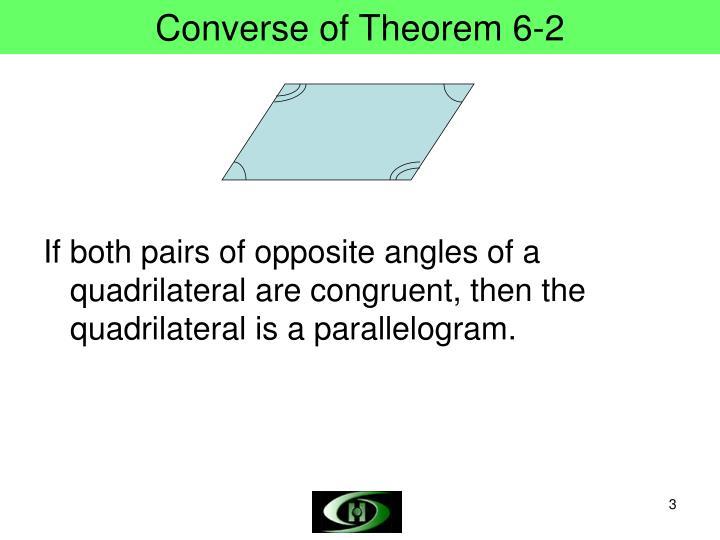 Converse of theorem 6 2