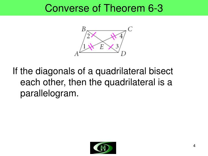 Converse of Theorem 6-3