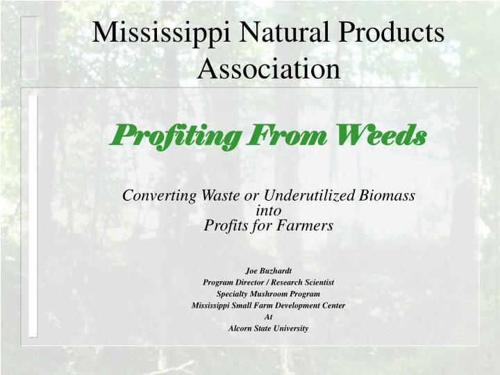 Mississippi natural products association