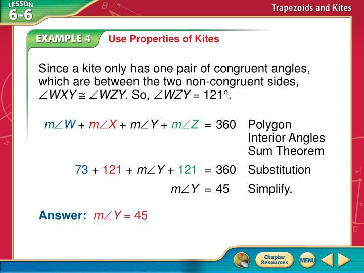 Use Properties of Kites