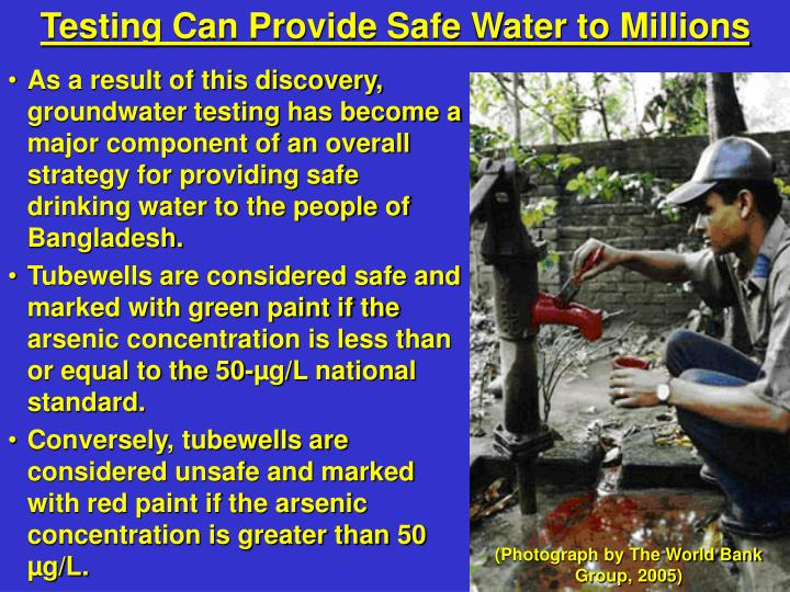 Testing Can Provide Safe Water to Millions