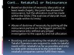 cont retakaful or reinsurance