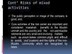 cont risks of mixed activities