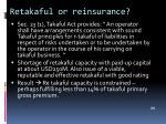 retakaful or reinsurance
