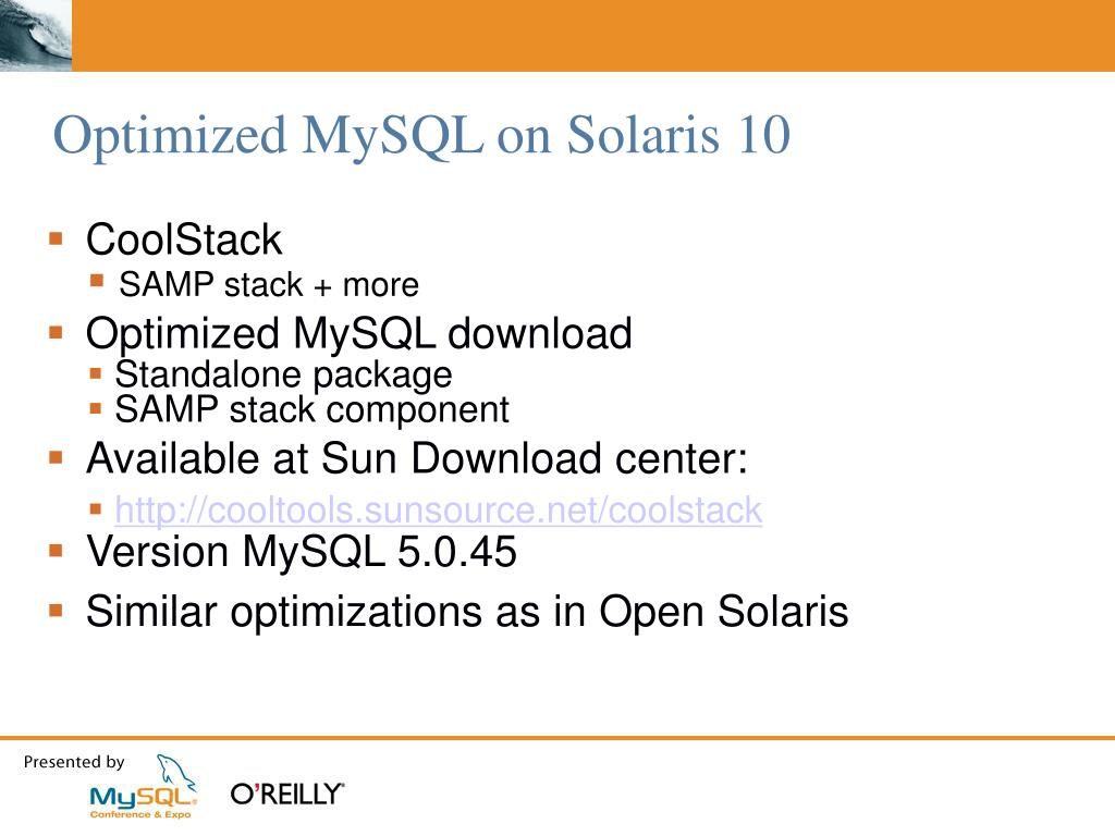 PPT - Best Practices For Deploying MySQL on Solaris PowerPoint