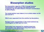 biosorption studies