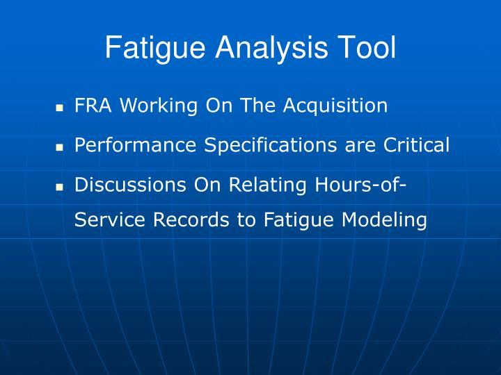Fatigue Analysis Tool