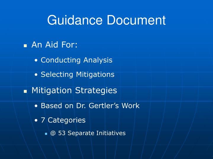 Guidance Document