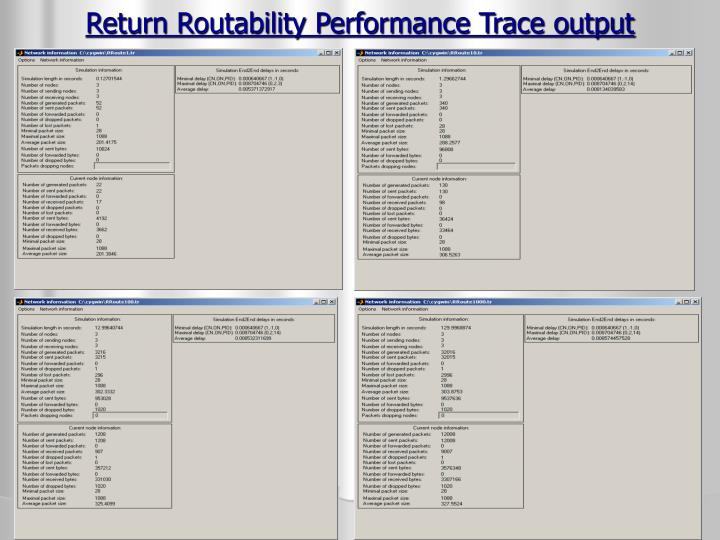 Return Routability Performance Trace output