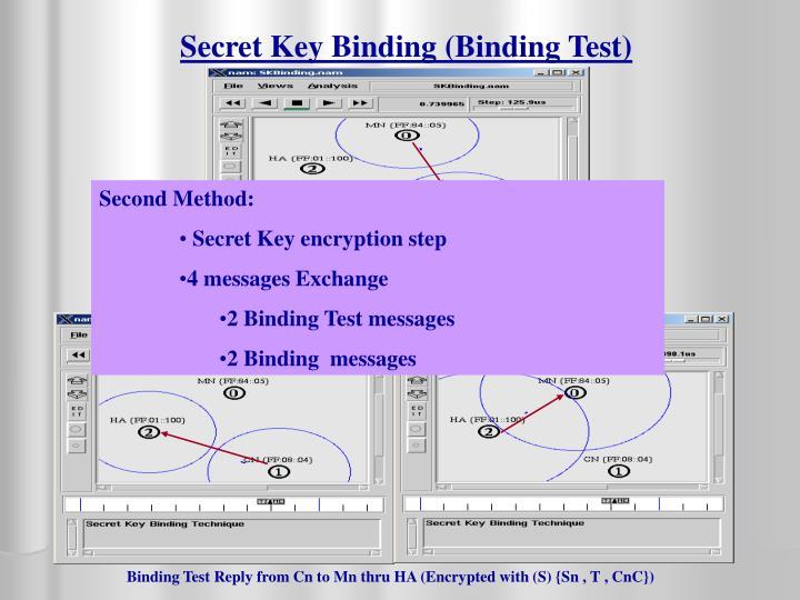 Secret Key Binding (Binding Test)