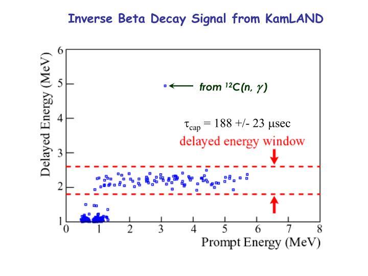 Inverse Beta Decay Signal from KamLAND
