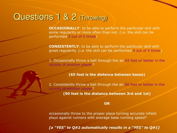 Questions 1 2 throwing