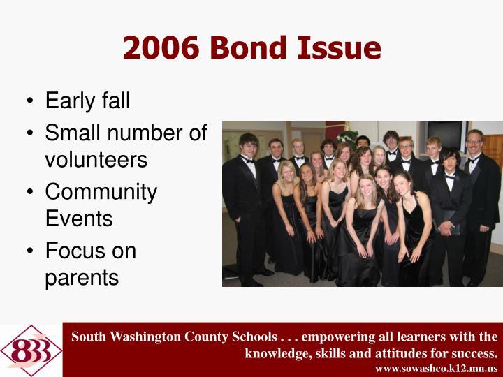 2006 Bond Issue