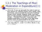 i 3 1 the teachings of mozi moderation in expenditure1
