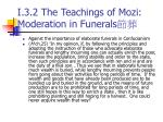 i 3 2 the teachings of mozi moderation in funerals