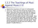 i 3 3 the teachings of mozi against music