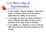 i 3 6 mozi s way of argumentation
