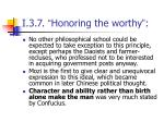 i 3 7 honoring the worthy