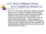 i 3 9 mozi s religious views ch 31 explaining ghosts