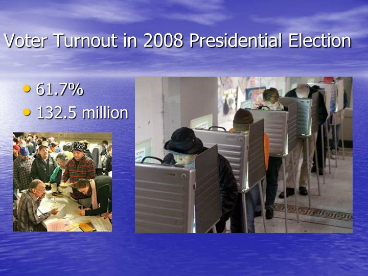 voter turnout in 2008 presidential election n.